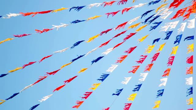 vídeos de stock, filmes e b-roll de bandeiras, festas de fim de ano - insígnia