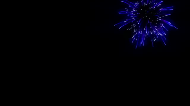 Holiday fireworks display against, Luma Matte attached video
