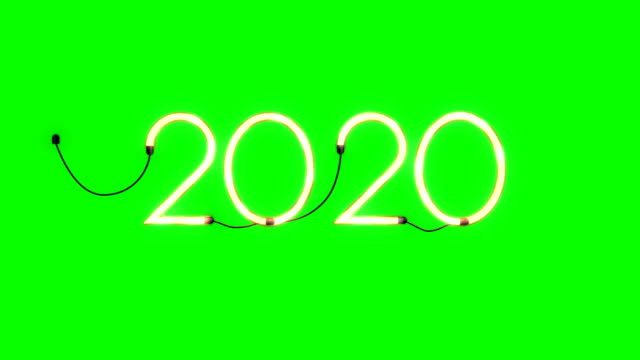 2020 holiday flickering neon sign, seamless loop, Green Screen Chromakey 2020 holiday flickering neon sign, seamless loop, Green Screen Chromakey 2020 stock videos & royalty-free footage
