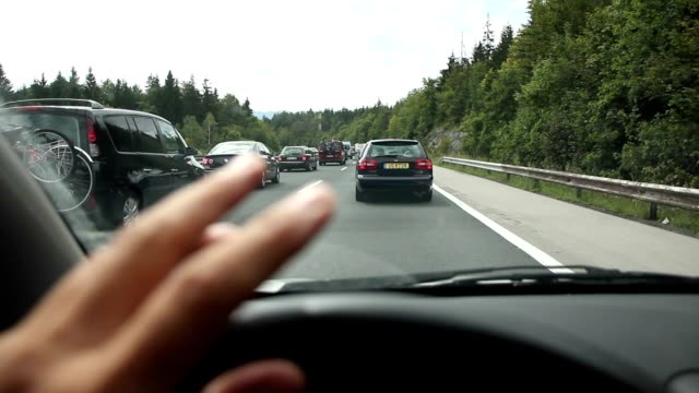 Holiday traffic jam on the highway video