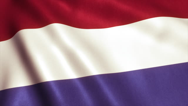 Holland Flag Video Loop - 4K video