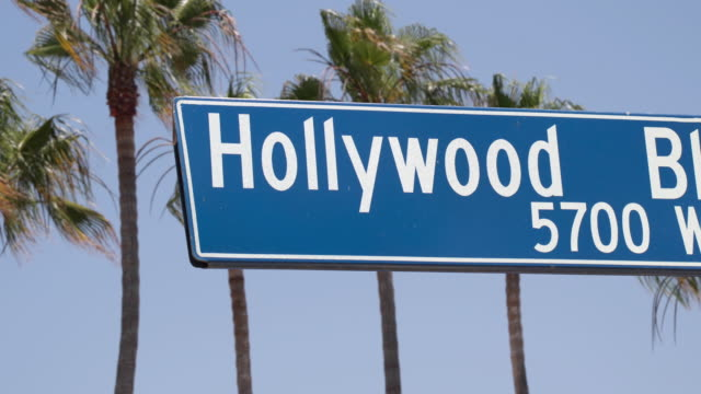 Hollywood Blvd Sign - 4K video