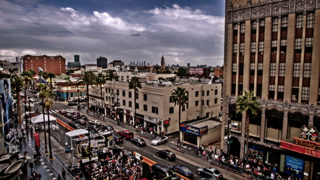 hollywood boulevard, los angeles, usa - viale video stock e b–roll