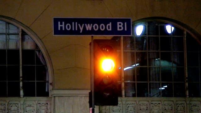 hollywood boulevard - viale video stock e b–roll