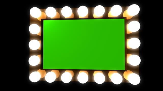 Hollywood Vanity mirror bulbs green screen video