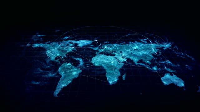 hologram anslutningar världen karta blå - global bildbanksvideor och videomaterial från bakom kulisserna