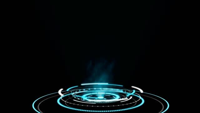 vídeos de stock, filmes e b-roll de interfaces de círculo hud holograma, exibição de botão futurista de alta tecnologia - holograma
