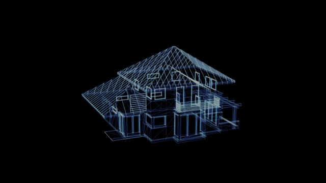 Hologram of a rotating house