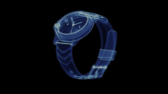 Hologram of a rotating wrist watch