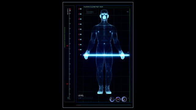Hologram scanning human UI video