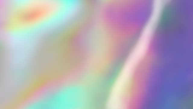 Holographic and iridescent texture with vibrant neon colors Real gradient moving surface. Metallic, glitter, sparkle, foil, rainbow Iridescent design prism stock videos & royalty-free footage