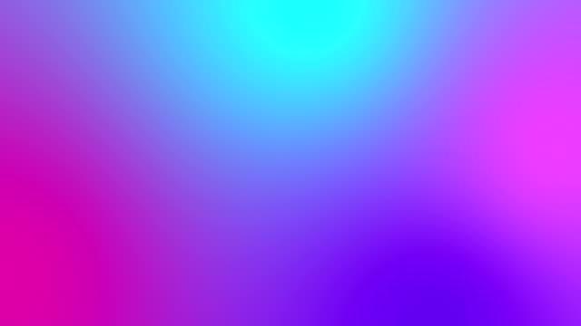 vídeos de stock e filmes b-roll de holographic gradient film burn animation. - gradient