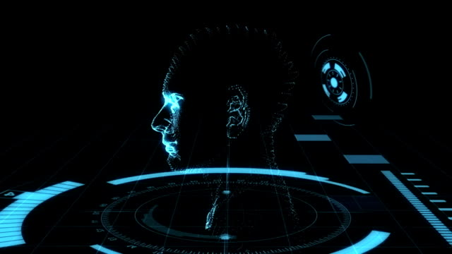 Holographic Head Animation video