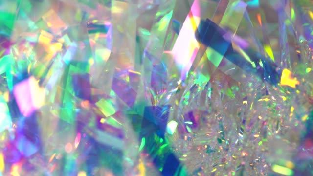 ホログラフィック虹色ネオングラデーション背景 - 玉虫色点の映像素材/bロール