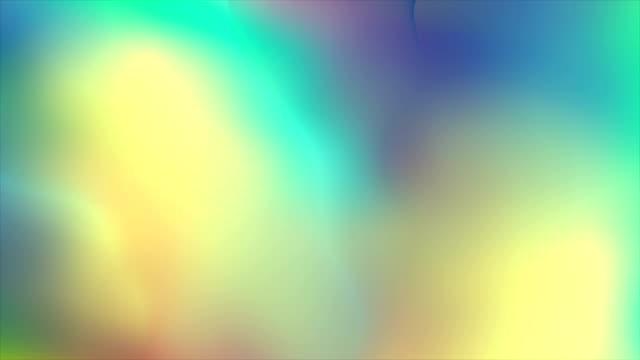 holographische flüssigkeit glatte wellen abstrakte videoanimation - holografisch stock-videos und b-roll-filmmaterial