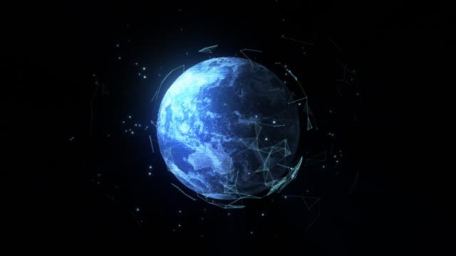 holographische projektion des planeten erde - holografisch stock-videos und b-roll-filmmaterial