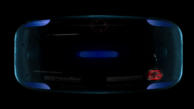 Holographic virtual reality glasses. VFX project. Alpha video