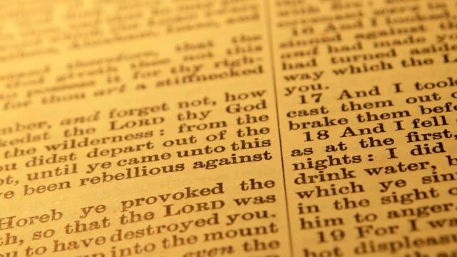 holy bible - ветхий завет стоковые видео и кадры b-roll