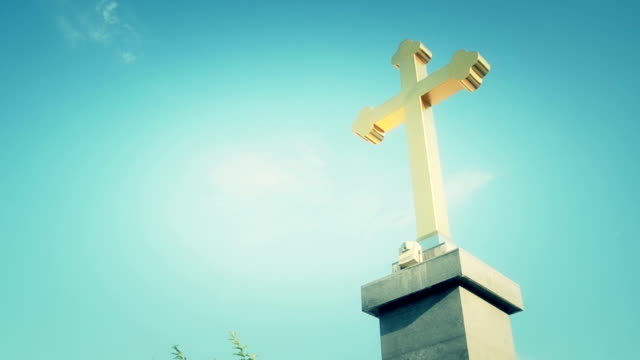 Holy cross with cloud background video