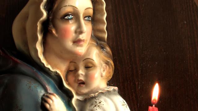 santa maria e gesù - ferragosto video stock e b–roll