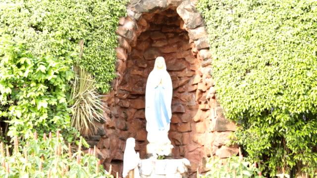 Holy Mary Statue at Santa Cruz Church in Bangkok, Thailand video