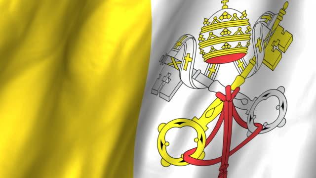 Holy See Flag - waving, looping video