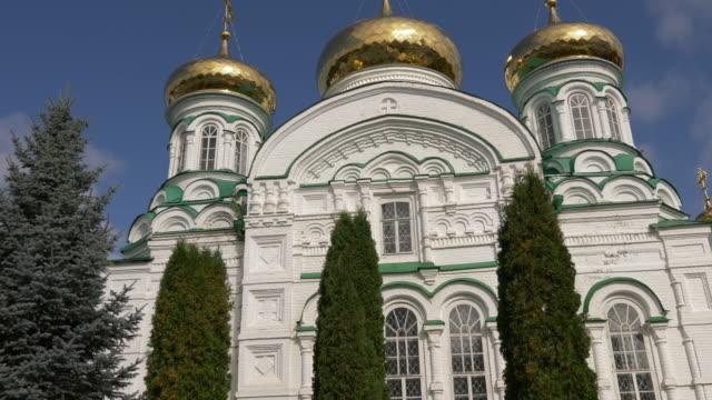 Holy Trinity Cathedral. Raifa Bogoroditsky Monastery Church, Kasan, Tatarstan, Russia. video