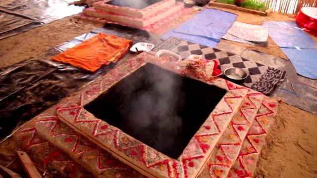 Homa havan ritual according to vedic tradition video