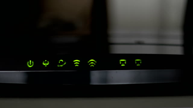 Home adsl router with flashing lights video