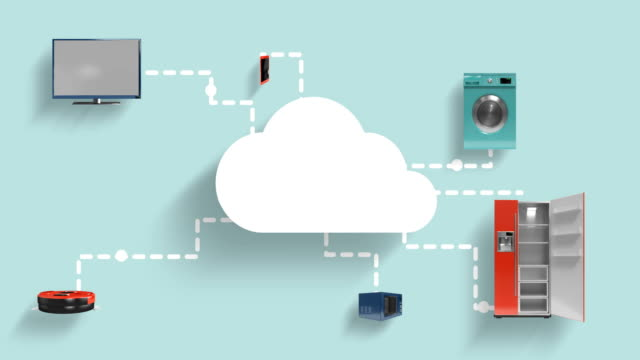 Home appliances connecting through cloud computing video