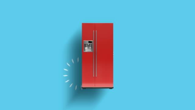 home appliances connecting through cloud computing - sfondo a colori video stock e b–roll