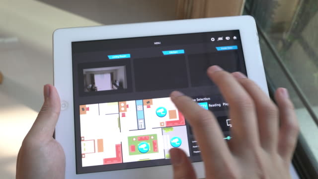 ホーム オートメーションおよびスマート ホーム技術 - 照明制御 - コントロール点の映像素材/bロール
