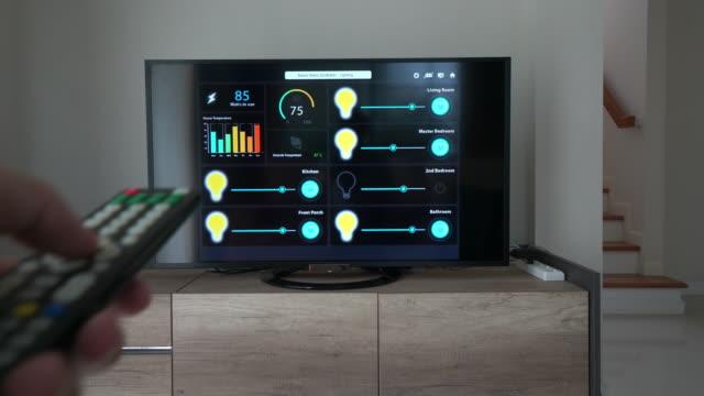 ホーム オートメーションおよびスマート ホーム技術 - 照明制御 - モノのインターネット点の映像素材/bロール