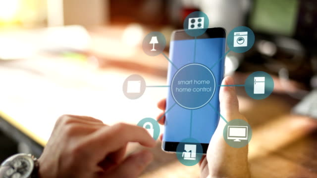Home automation, smart home app on mobile Phone