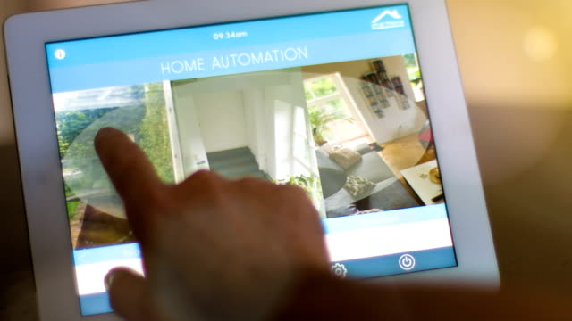 Home automation, smart home app on tablet pc video