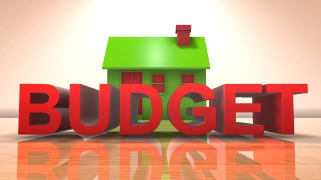 Home budget for property investment real estate property market and loans