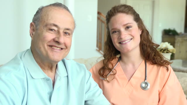 Home Caregiver and Male Patient video