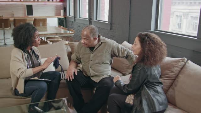 Home Healthcare Provider Visits Senior Couple video