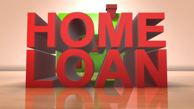 Home loan mortgage for real estate housing property 3D animation title