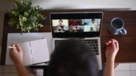 istock Home Office Video Conference with casual clothing using laptop 1221311284