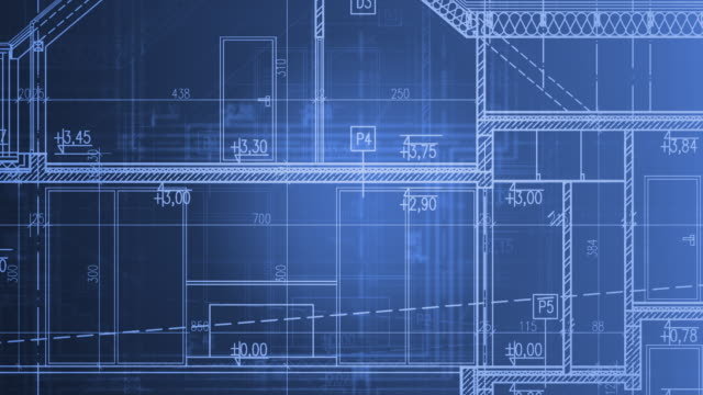 Home Project Blueprints in Motion. Home Project Blueprints in Motion. Blue Animated Architecture Industry Background. blueprint stock videos & royalty-free footage
