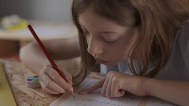 vidéos et rushes de home school - étudiant(e)