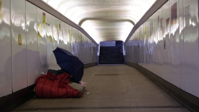 ds homeless in the underpass - homelessness stock videos & royalty-free footage