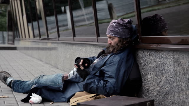 Homeless using smartphone video