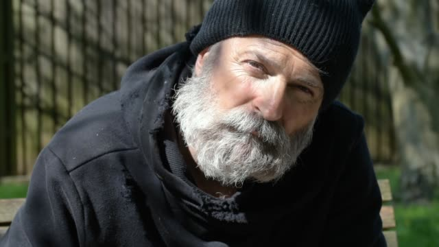 Homelessness Headshot of Homeless man homeless person stock videos & royalty-free footage