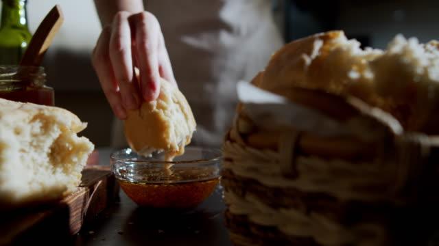 homemade bread - immergere video stock e b–roll