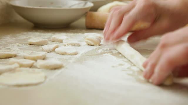 Homemade meat dumplings cooking meat dumplings ravioli stock videos & royalty-free footage