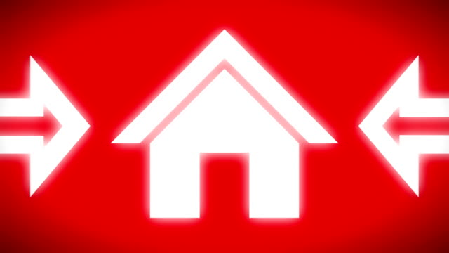 Homepage icon on the red screen Homepage icon on the red screen. Looping. homepage stock videos & royalty-free footage