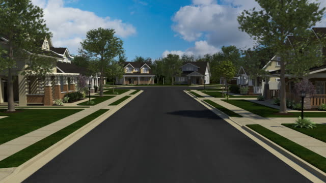 Homes down a neighborhood street video