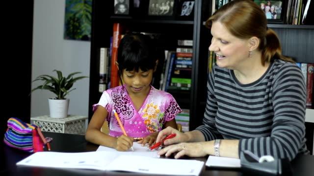 Homeschool Mom Teaching Spelling Lesson video